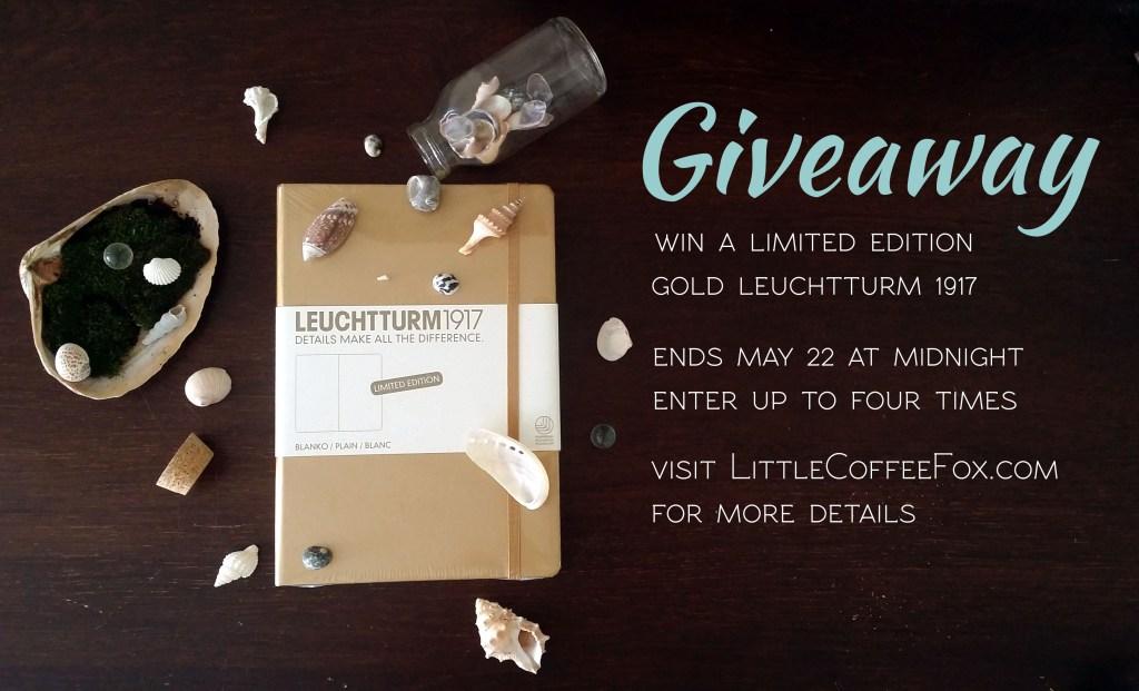 Limited Edition Gold Leuchtturm1917 Giveaway | Littlecoffeefox.com