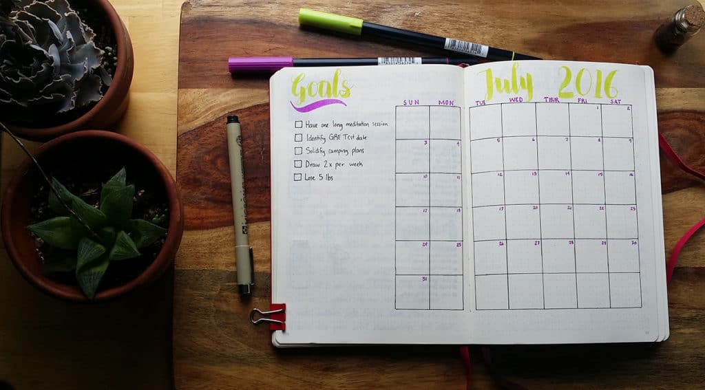 My July Monthly Set Up includes some new additions and some changes in format. See what cool stuff goes into my monthly spread to keep track of my life!
