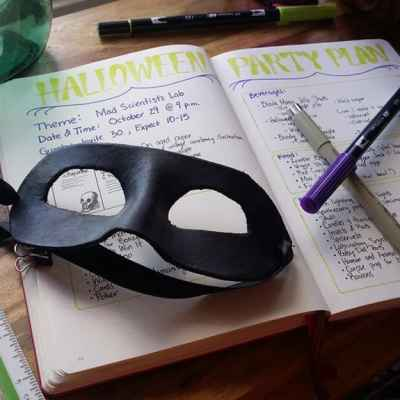 Bullet Journal Party Planner – Let's Do Halloween!