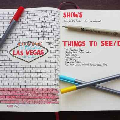 Planning for a vacation budget is a big step towards your unforgettable trip. See how you can easily save up your cash with the help of a simple spread in the bullet journal! Using this technique, I am saving for a fabulous trip to Las Vegas and it's already helped get thing