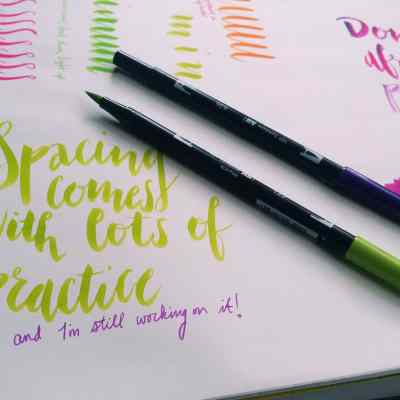 The Brush Lettering Technique That Can Instantly Improve Your Writing
