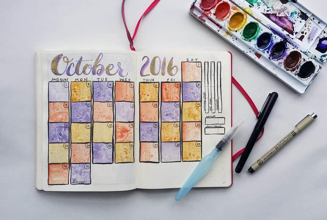 Bullet Journal Monthly Spread October Is Here