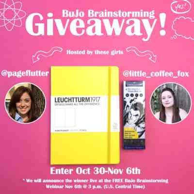 ****CLOSED**** Bullet Journal Brainstorm GIVEAWAY