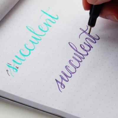 Faux Calligraphy – Learn How to Create Gorgeous Lettering the Easy Way