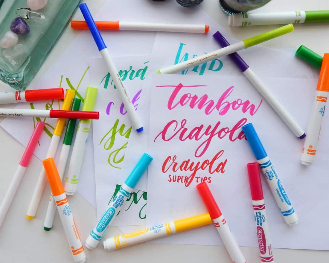 How To Write Calligraphy With A Crayola Marker