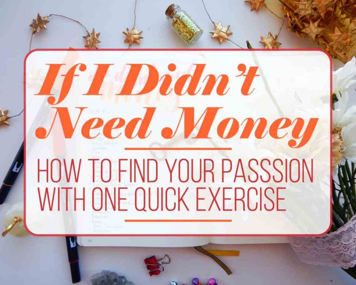 if i didn t need money how to your passion one quick sometimes it can be hard to figure out how to your passion whether that