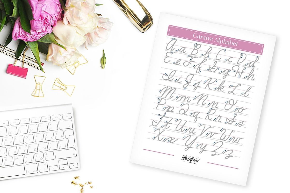 Cursive Letters Worksheet Brush Up On Your Cursive