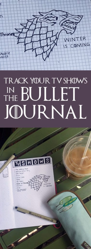 Track your TV Shows in the Bullet Journal| Littlecoffeefox.com