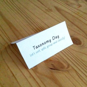 Taxonomy Day