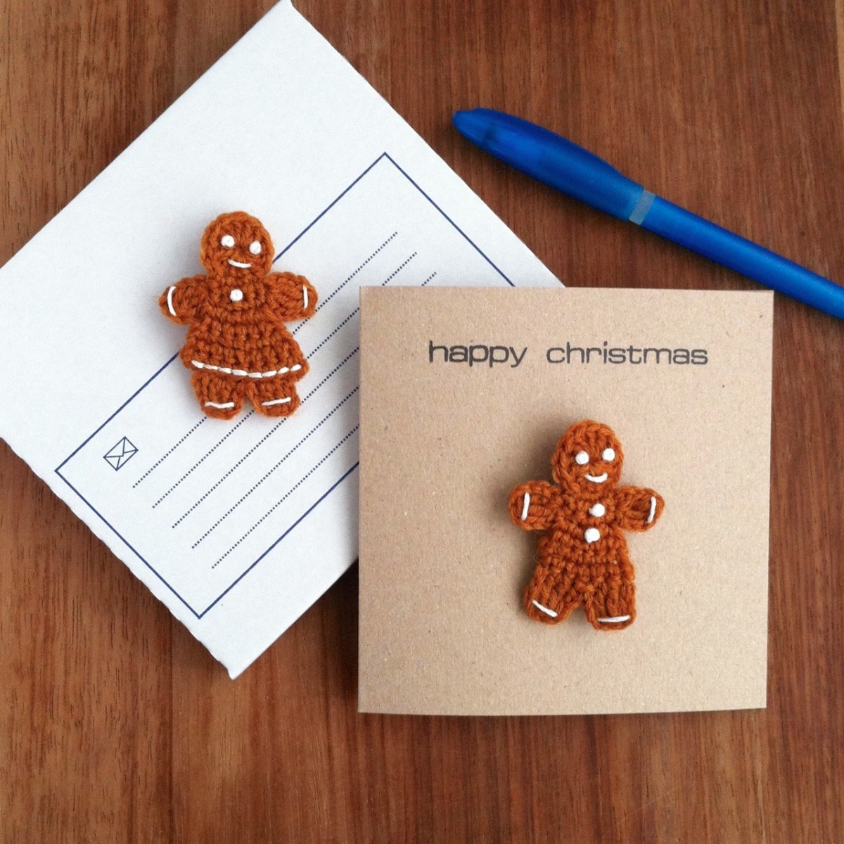 Gingerbread Brooch Cards