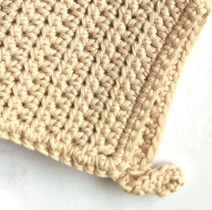 Crocheted Washcloth made to an original Little Conkers pattern