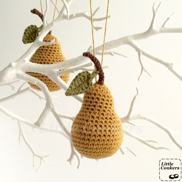Gold Pear Ornaments by Little Conkers