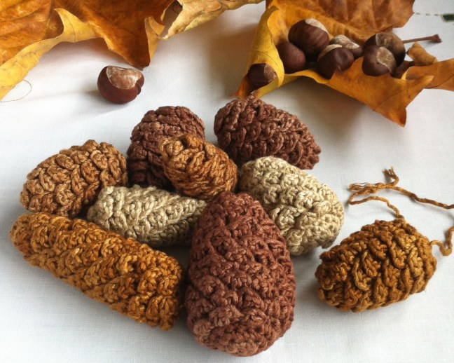 Ready-made Crochet Pine Cones