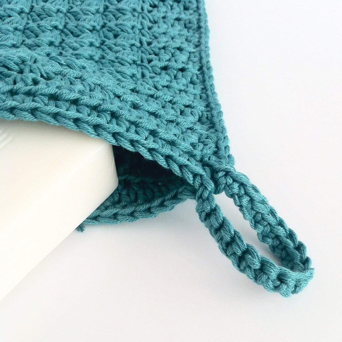 Crochet Wash Mitt with Loop