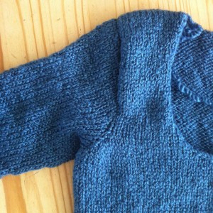 Setting in Sleeves Knitting Sweater