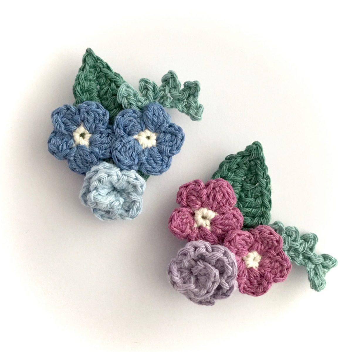 Crocheted Brooches Crochet Flowers Bouquet Brooch