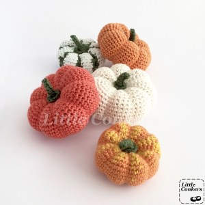 Hand-crocheted Decorative Gourds and Pumpkins