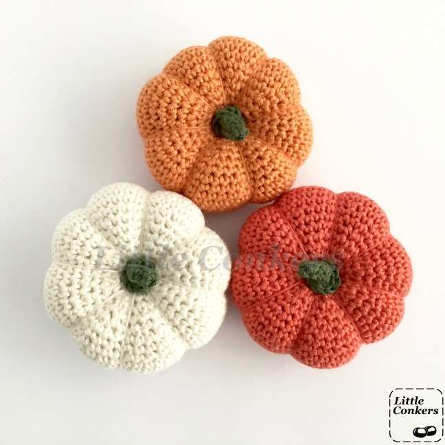 Hand-crocheted Decorative Pumpkins by Little Conkers