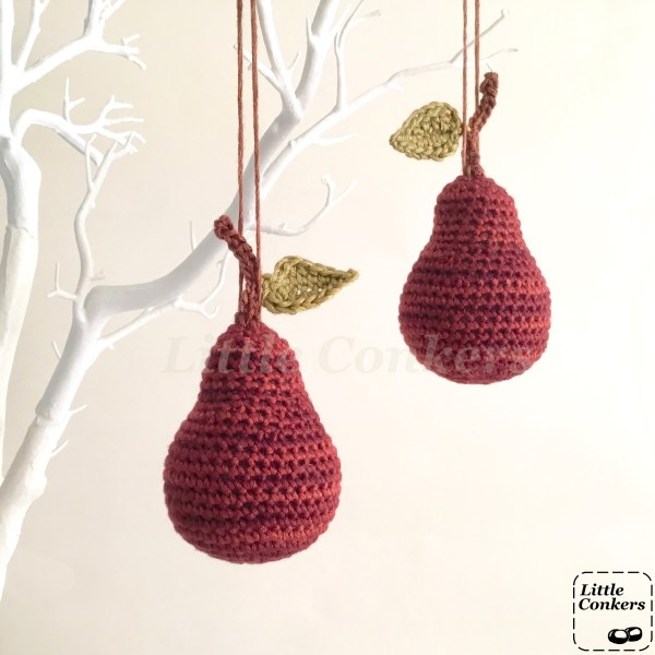 Red Hanging Pear Ornaments