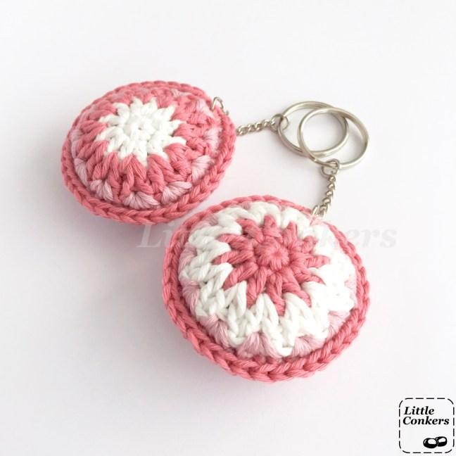 Pink Organic Cotton Keychains