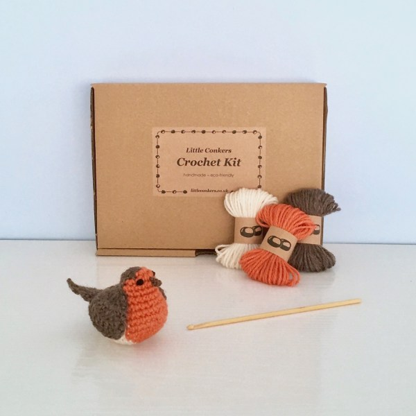 Crochet Robin Kit by Little Conkers