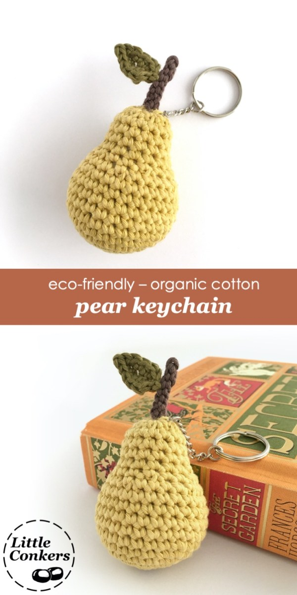 Eco-friendly Pear Keychain