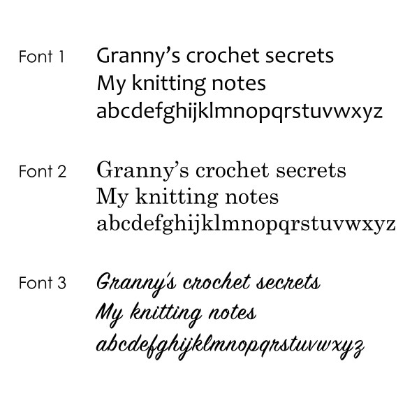 Font Choices for Personalised Notepads