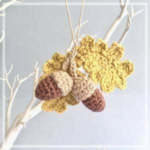 Acorn and Leaf Ornaments