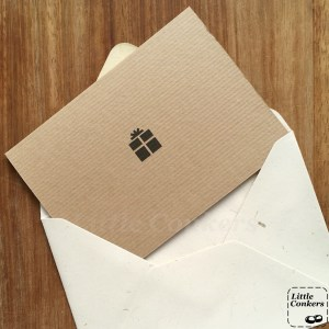 Recycled card gift voucher and envelope