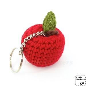 crocheted apple keyring