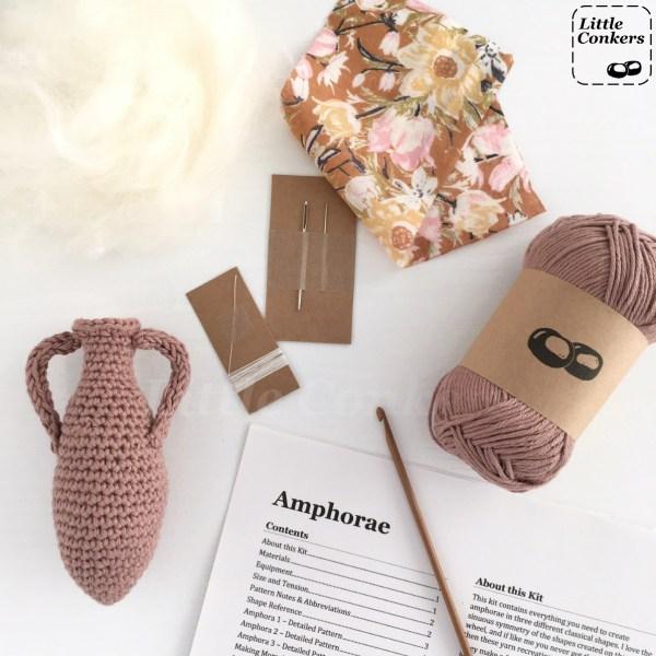 Amphorae Crochet Kit Contents