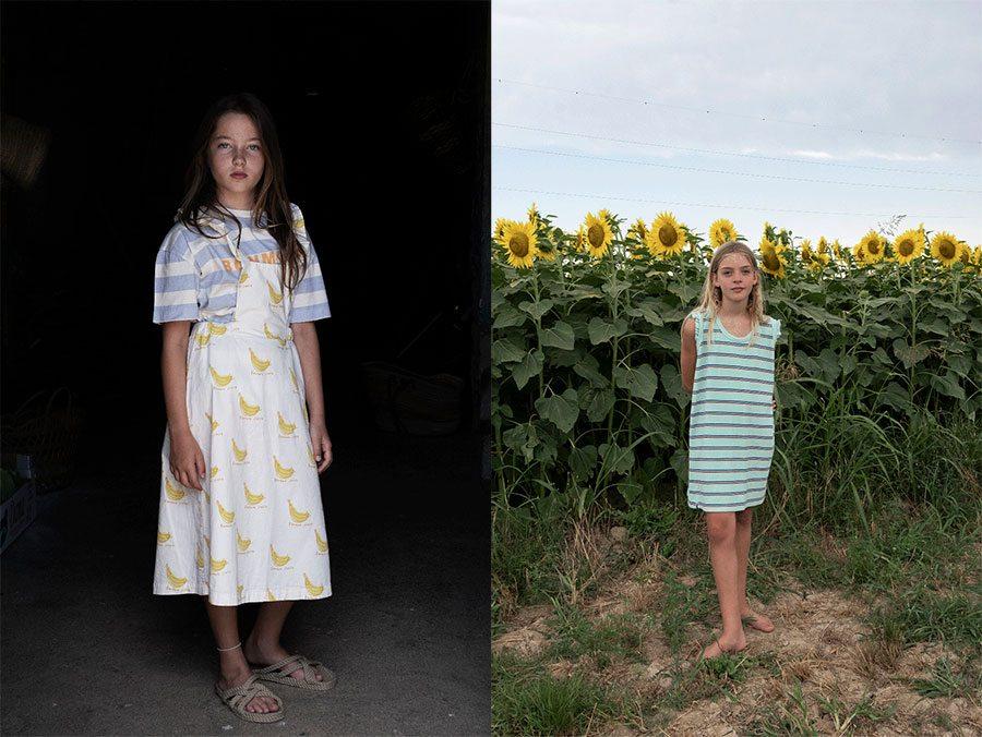 bonmet banana dress and terry bistripe dress