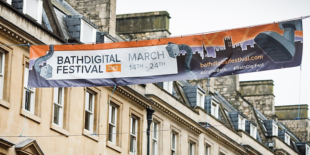 Chris Day's splendid design for the Bath Digital Festival, they really used it.