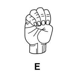 Sign Language E