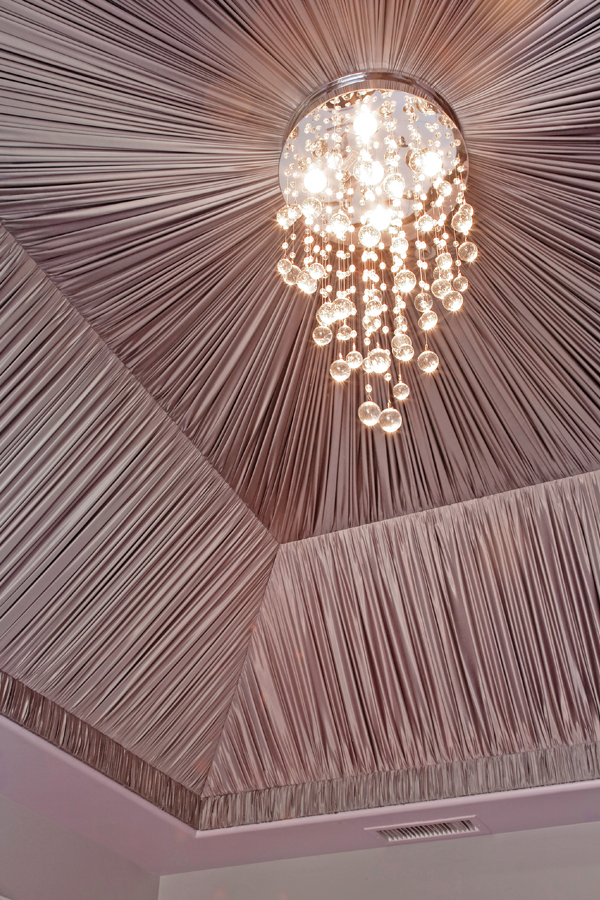 fabric draped ceiling