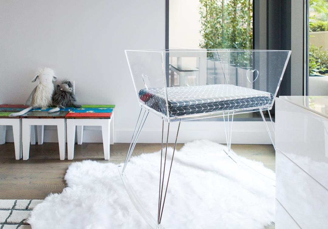 acrylic bassinet