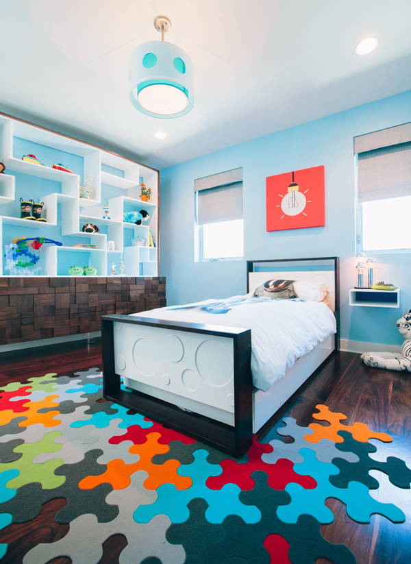 Pop Modern Boy's Bedroom designed by Little Crown Interiors