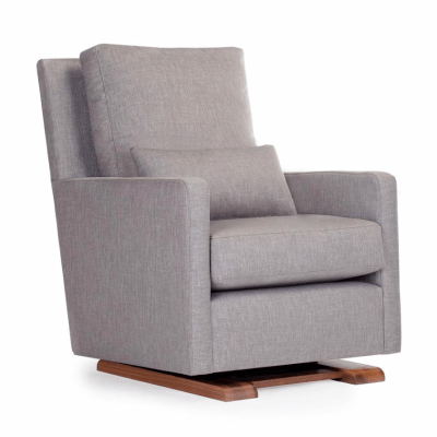 modern gray nursery glider chair