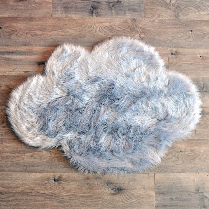 Grey Cloud Sheepskin Rug