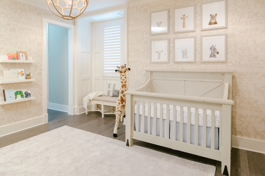 Neutral Safari Nursery by Little Crown Interiors