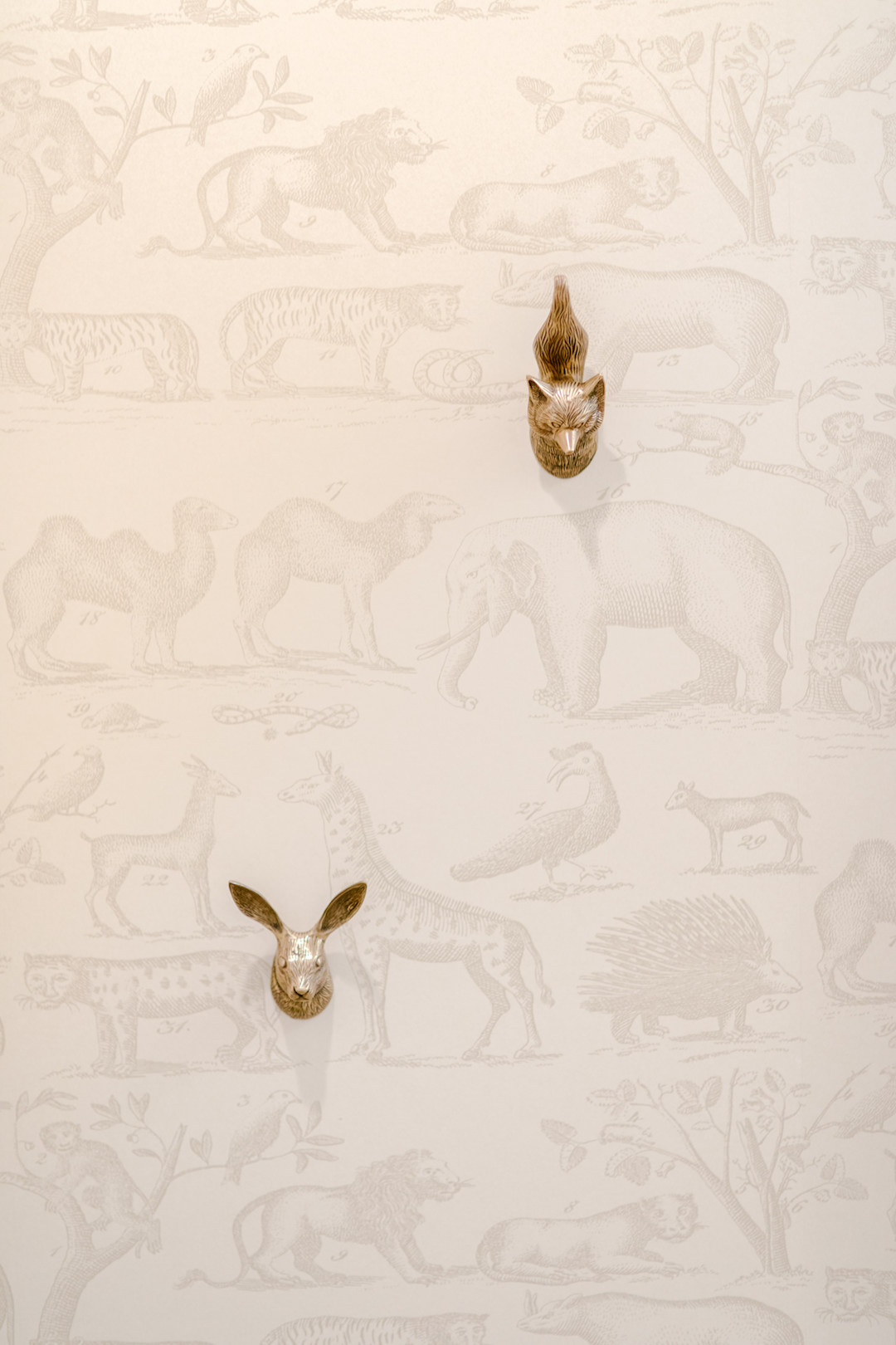 Neutral Nursery Wall Hooks | Little Crown Interiors