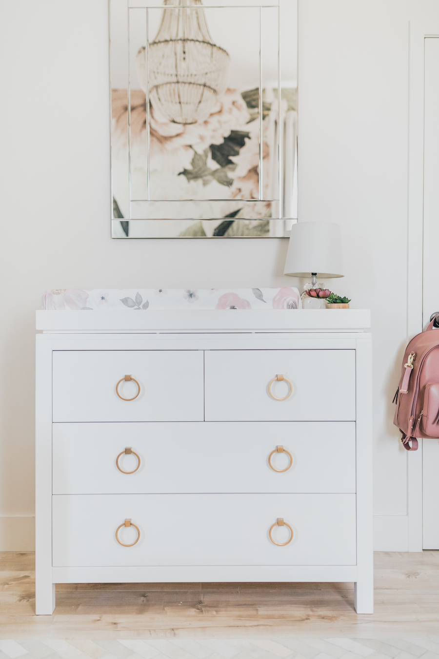Jessi Malay's Floral Nursery | Little Crown Interiors