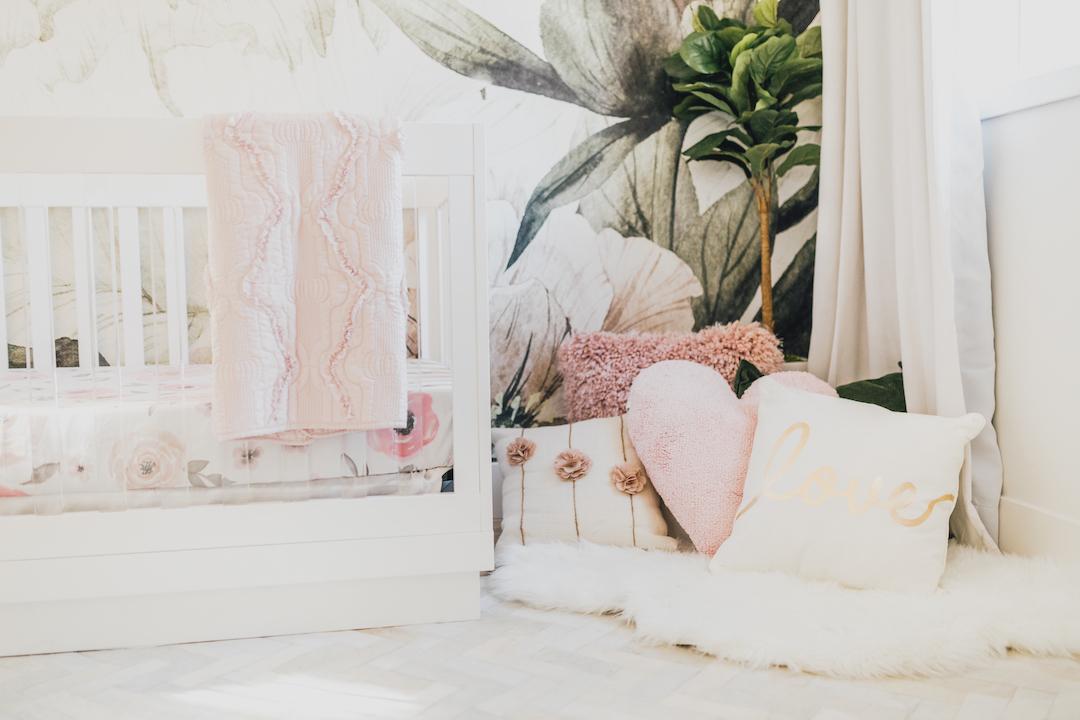 Floral Nursery Wallpaper | Little Crown Interiors