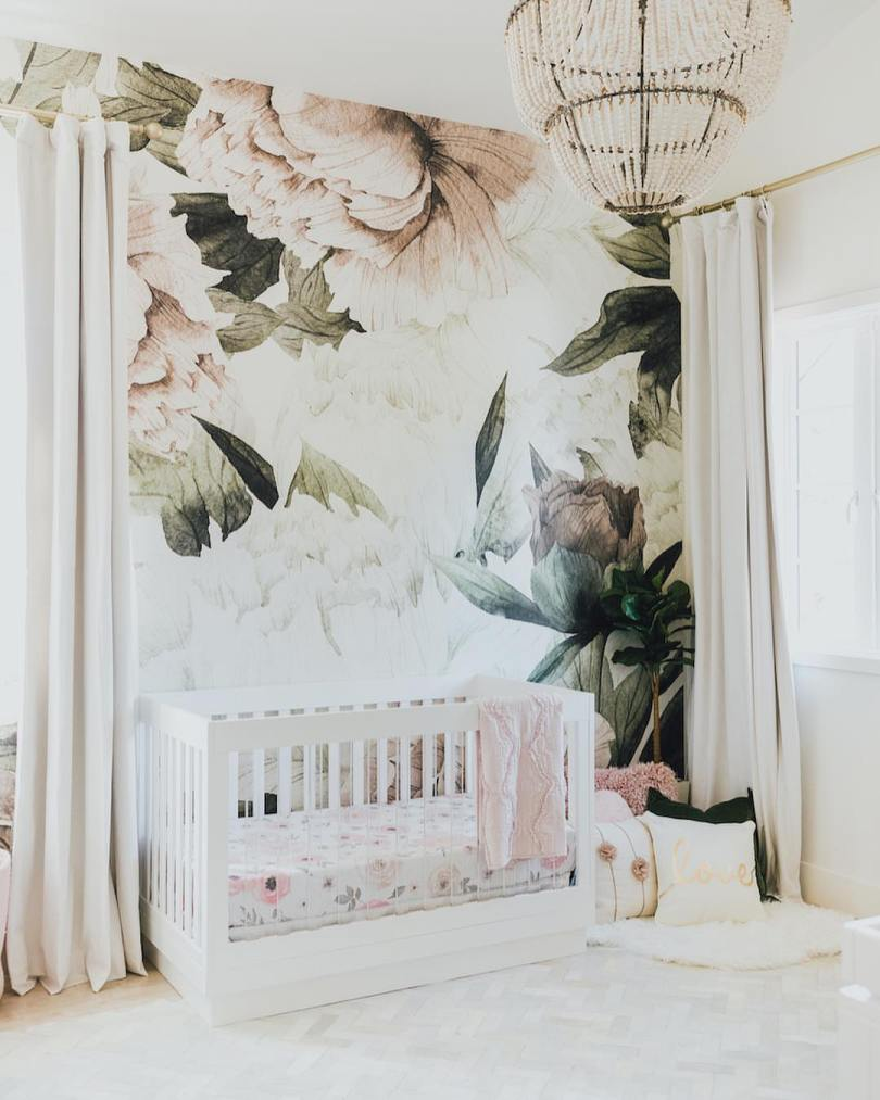 2018 Nursery Trends: Floral Wallpaper