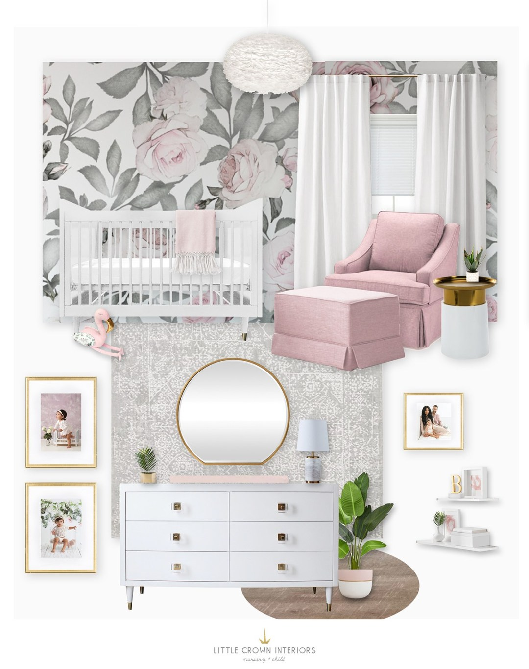My First Draft Of A Floral Girl S Nursery For Irene Khan Little