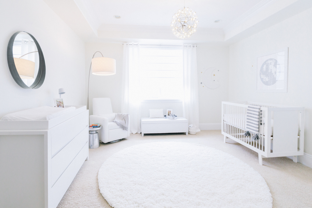 All White Nursery by Little Crown Interiors
