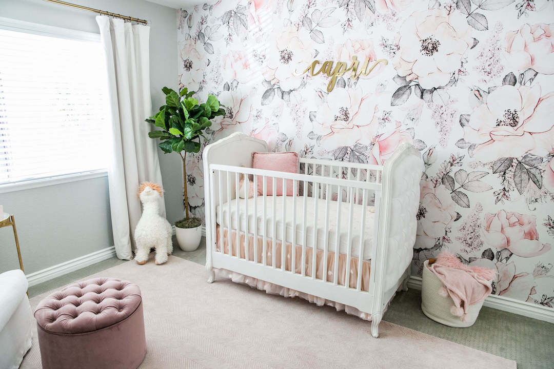 Sierra Dallas's Pastel Floral Nursery by Little Crown Interiors