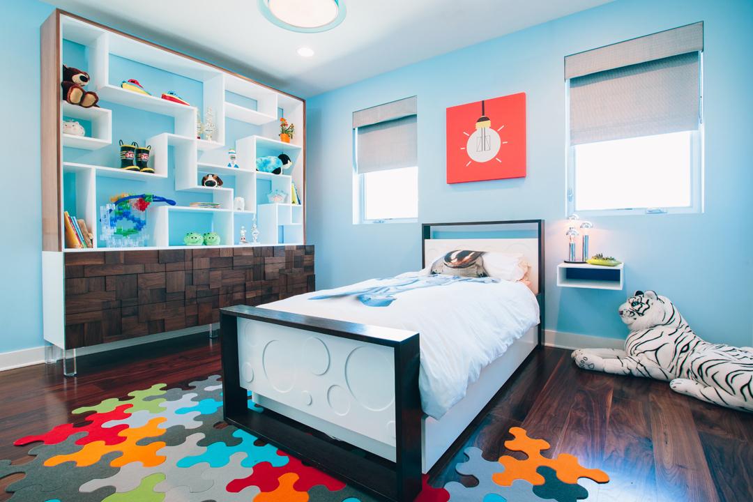 modern boy's nursery