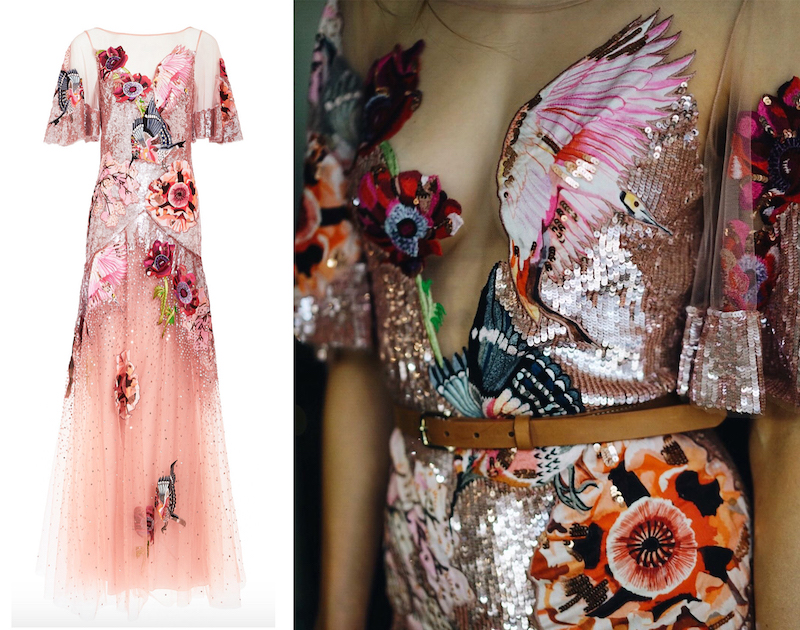 Pink Sequin Dress Temperley London