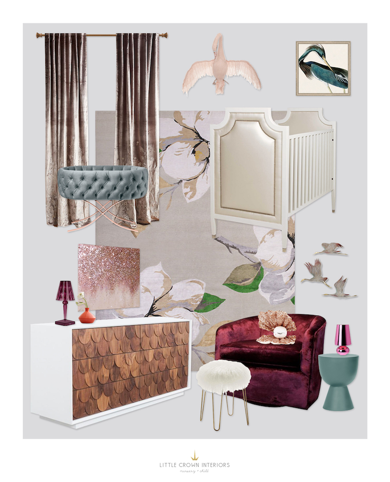 Fashion Inspired Nursery E-Design by Little Crown Interiors